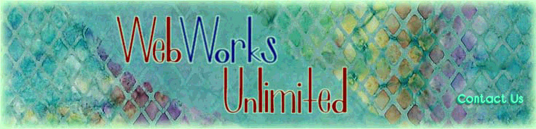 WebWorks Unlimited masthead logo, offering custom website design and management services, search engine optimization services, web hosting and content development services